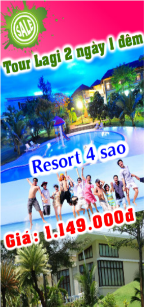 Tour Lagi 2 ngày 1 đêm - Resort Mõm Đá Chim 4 sao