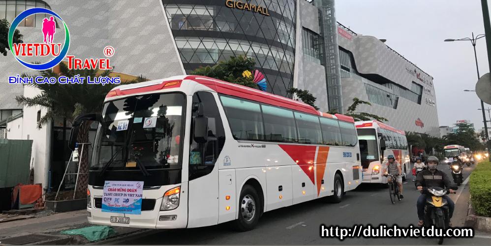 Xe đón khách đi Tour Phước Hải